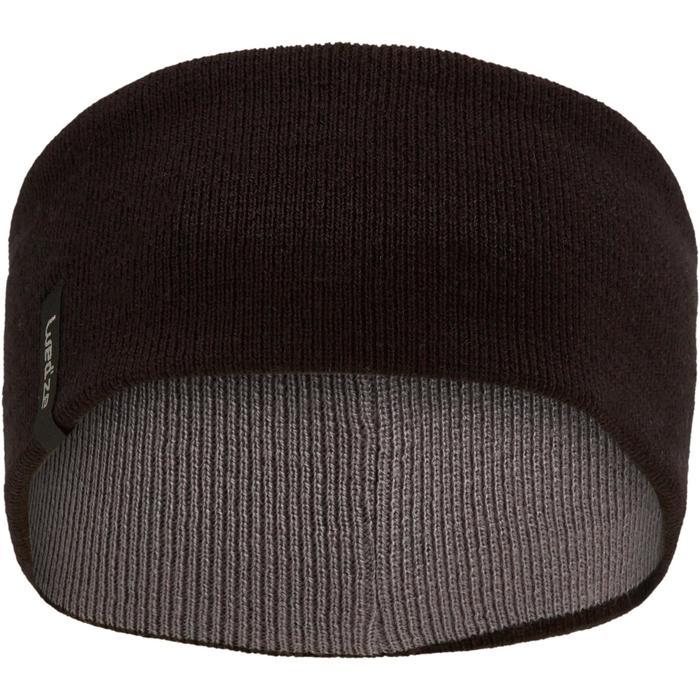 Stirnband wendbar Erwachsene schwarz/grau