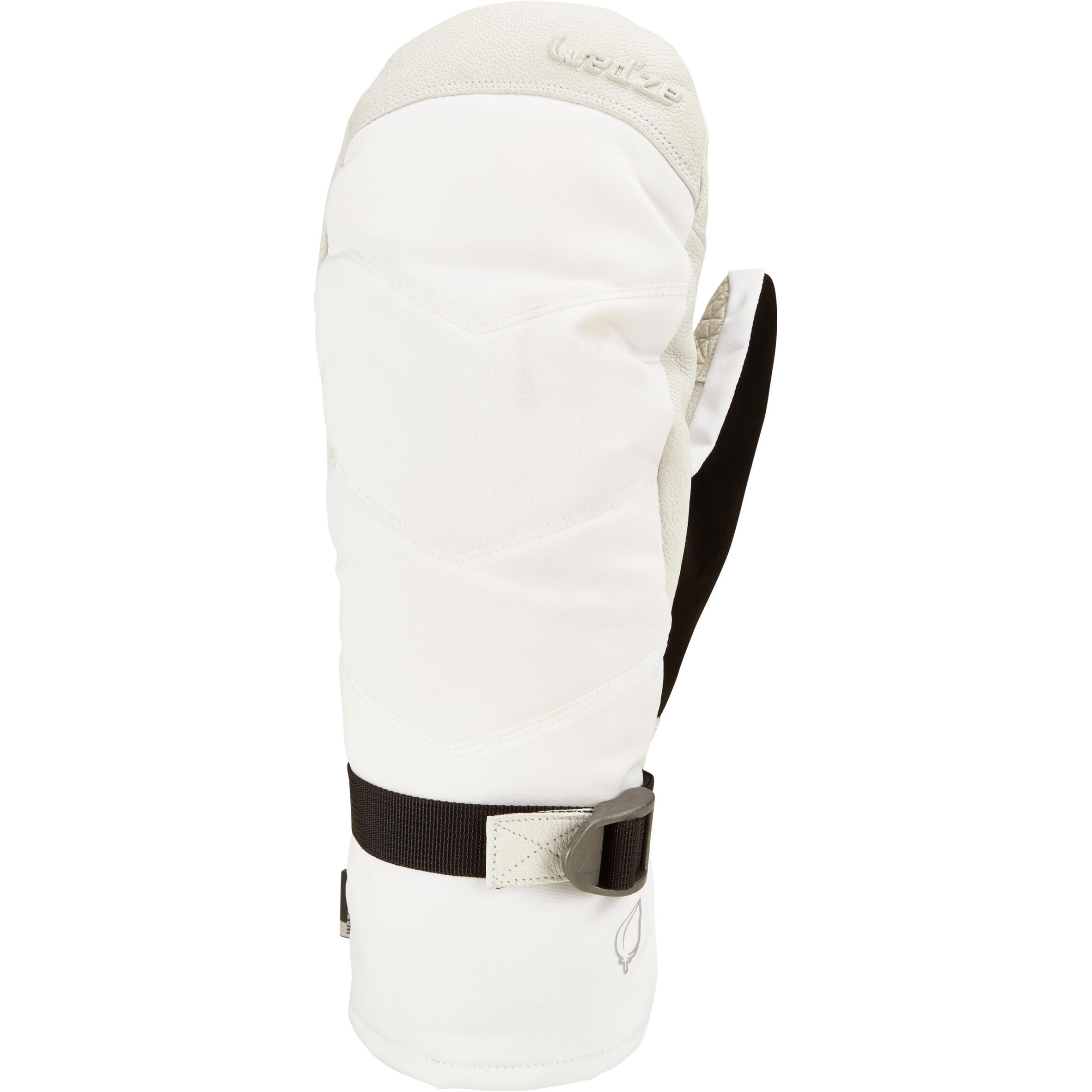 Skihandschuhe Fäustlinge 500 Erwachsene weiß | Accessoires > Handschuhe > Fäustlinge | Wed'ze