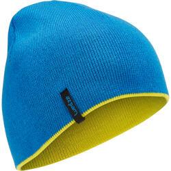 REVERSE CHILD'S SKI HAT - YELLOW/BLUE