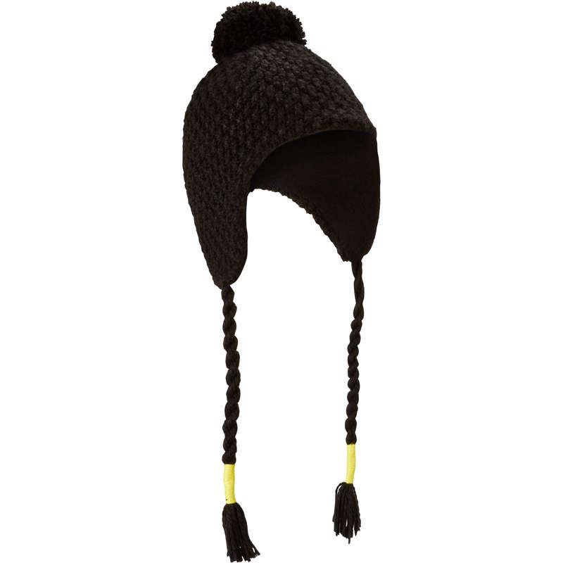 JUNIOR SKI AND SNOWBOARD HEADWEAR Ski Wear - Timeless JR Peruvian Hat - Blk WEDZE - Ski Wear
