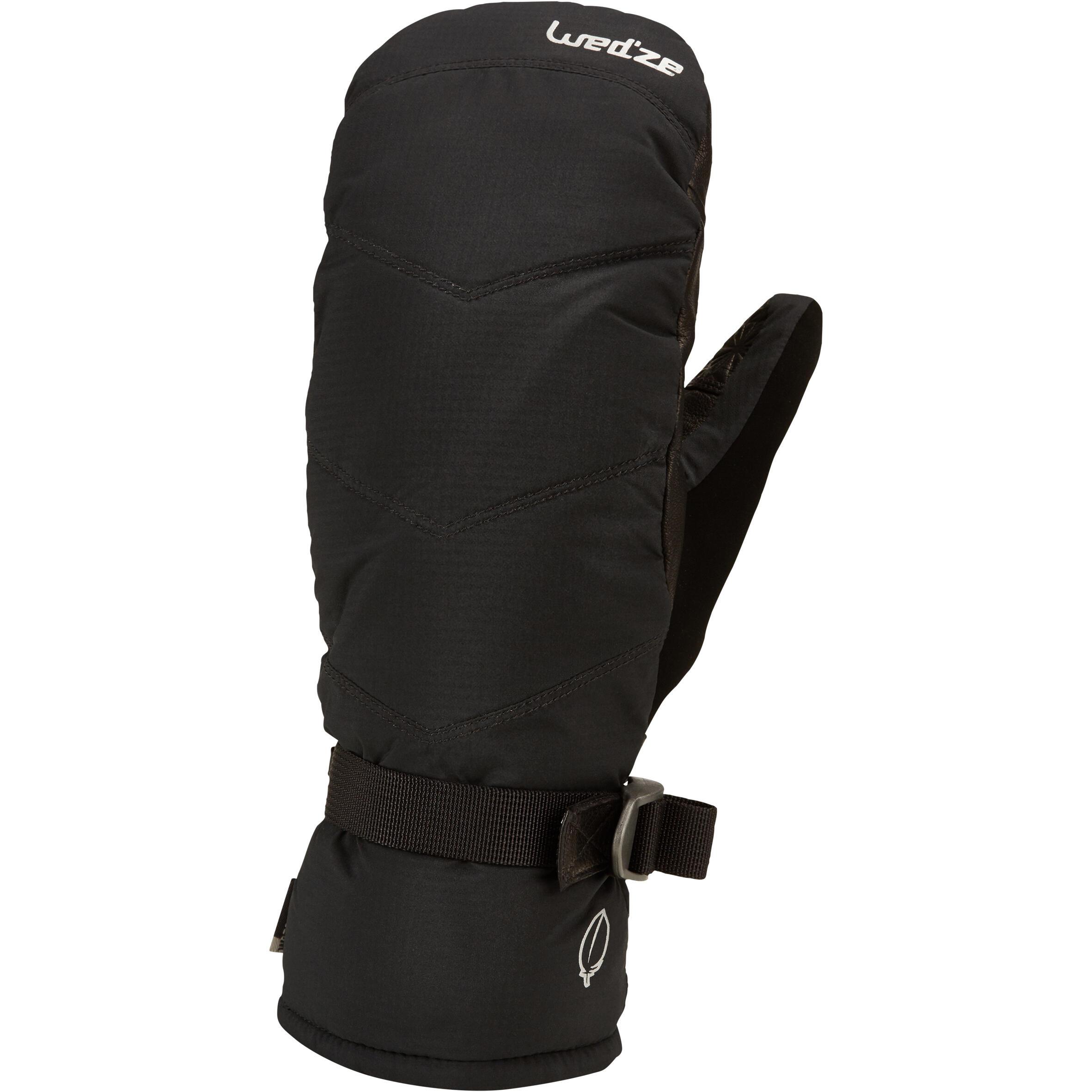 Skifäustlinge 500 Erwachsene schwarz | Accessoires > Handschuhe > Fäustlinge | Wedze