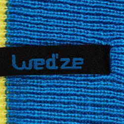 Skimütze wendbar Kinder blau/gelb