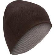 Črna in siva obojestranska smučarska kapa