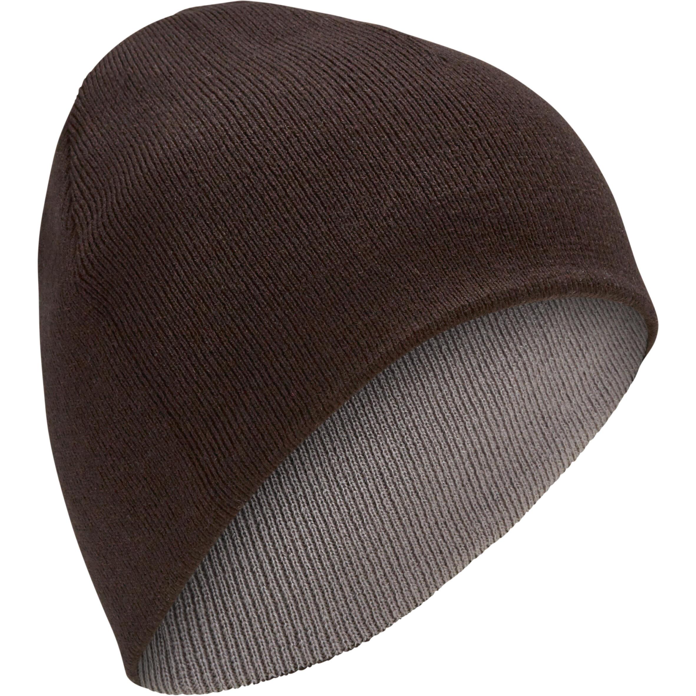 Damen,Herren Skimütze wendbar Erwachsene schwarz grau | 03608449880725