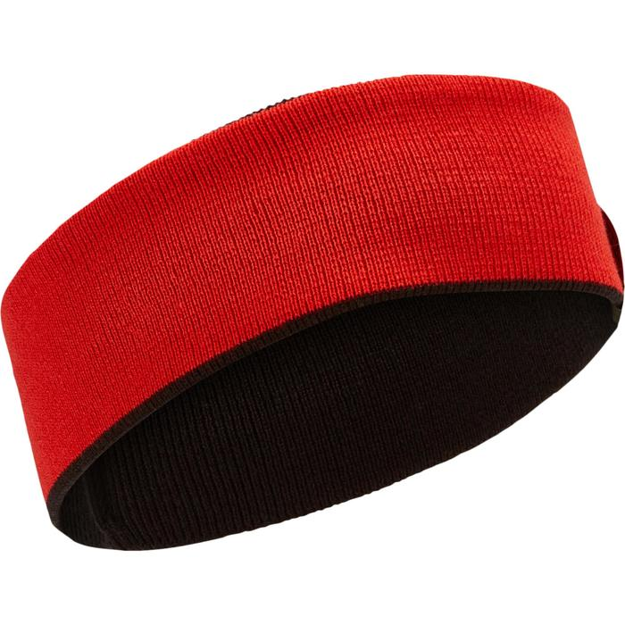 Keerbare skihoofdband voor kinderen zwart rood