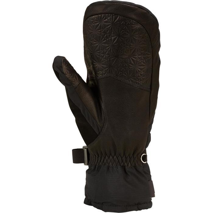 成人下坡滑雪連指手套500 - 黑色
