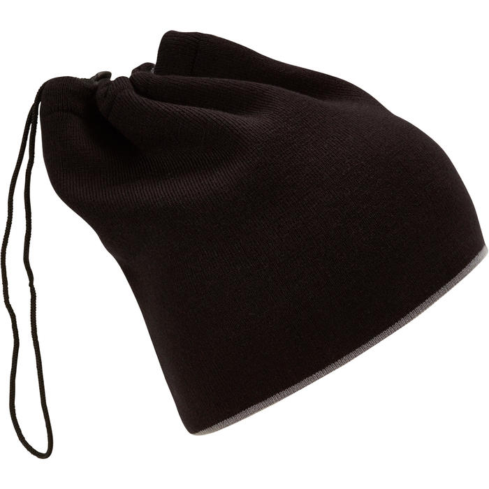 Adult Ski Reverse Neck-Warmer - Black Grey