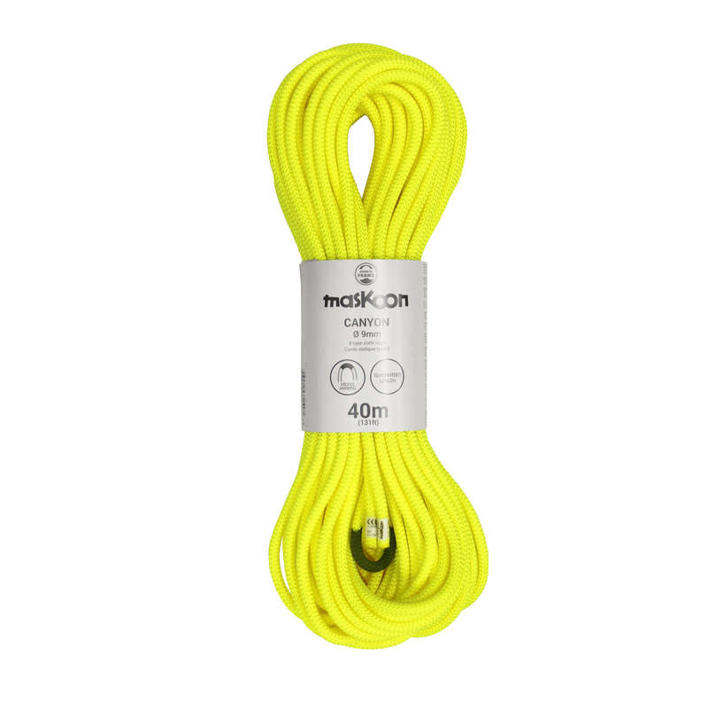 CANYONING GEAR Via ferrata Canyoning and Caving - Canyoning Rope 9 mm x 40 m MASKOON - Sports