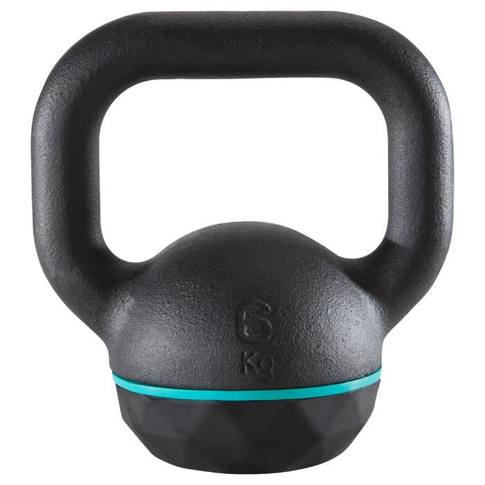 Kettlebell Cross Training Musculación Domyos 6 Kg Negro
