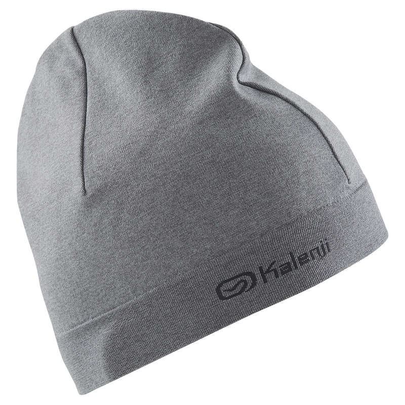 RUNNING COLD PROTECT ACCESSORIES Running - HAT RUNNING MOTTLED GREY KALENJI - Running Clothing