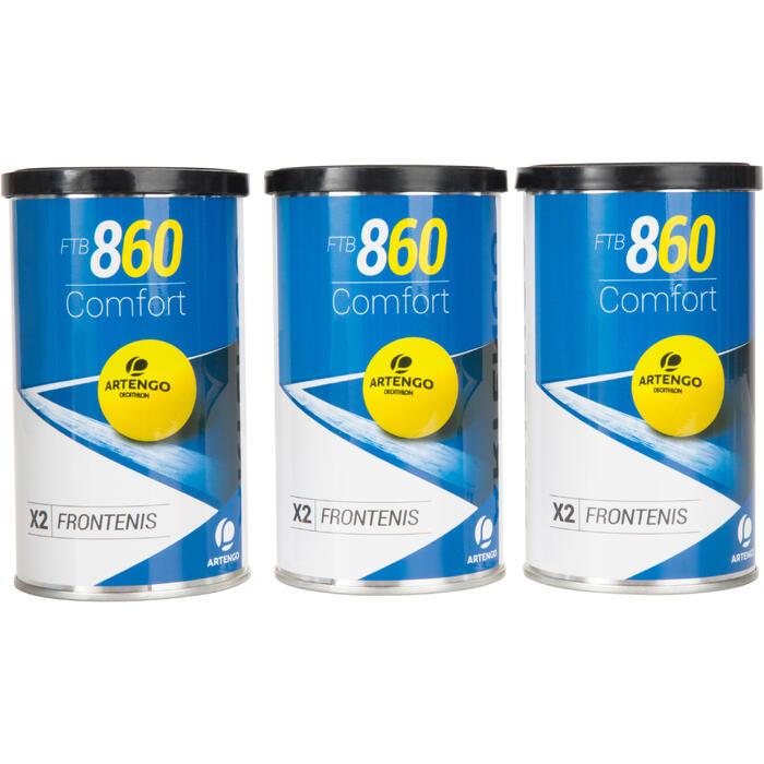 Tri pack balle front tennis jaune ftb 860 - 1234556