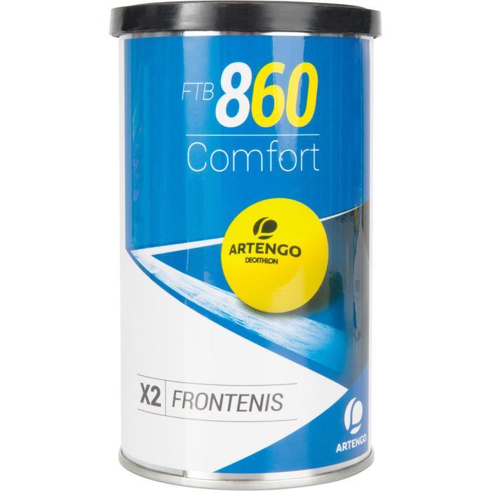 Tri pack balle front tennis jaune ftb 860 - 1234557
