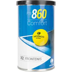 Tripack frontenisballen geel FTB 860