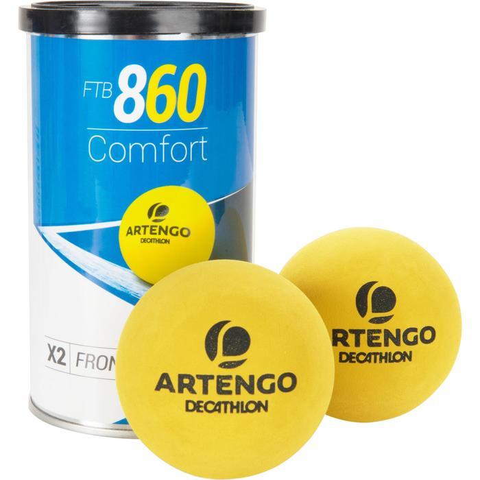 Tri pack balle front tennis jaune ftb 860 - 1234559