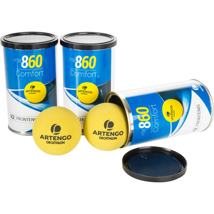Tri pack balle front tennis jaune ftb 860 - 1234562