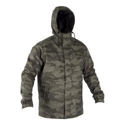 保暖狩獵外套100-迷彩棕色半色調