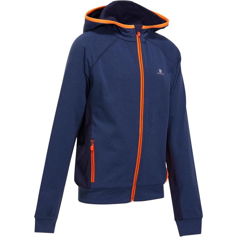 veste 980 gym gar on capuche poches bleu orange decathlon martinique. Black Bedroom Furniture Sets. Home Design Ideas