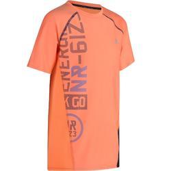 T-Shirt manches courtes slim S900 Gym garçon imprimé