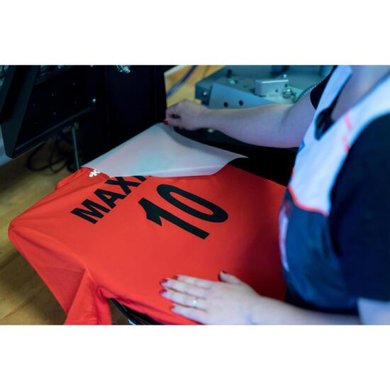 Naam + nummer opdrukken in 1 kleur