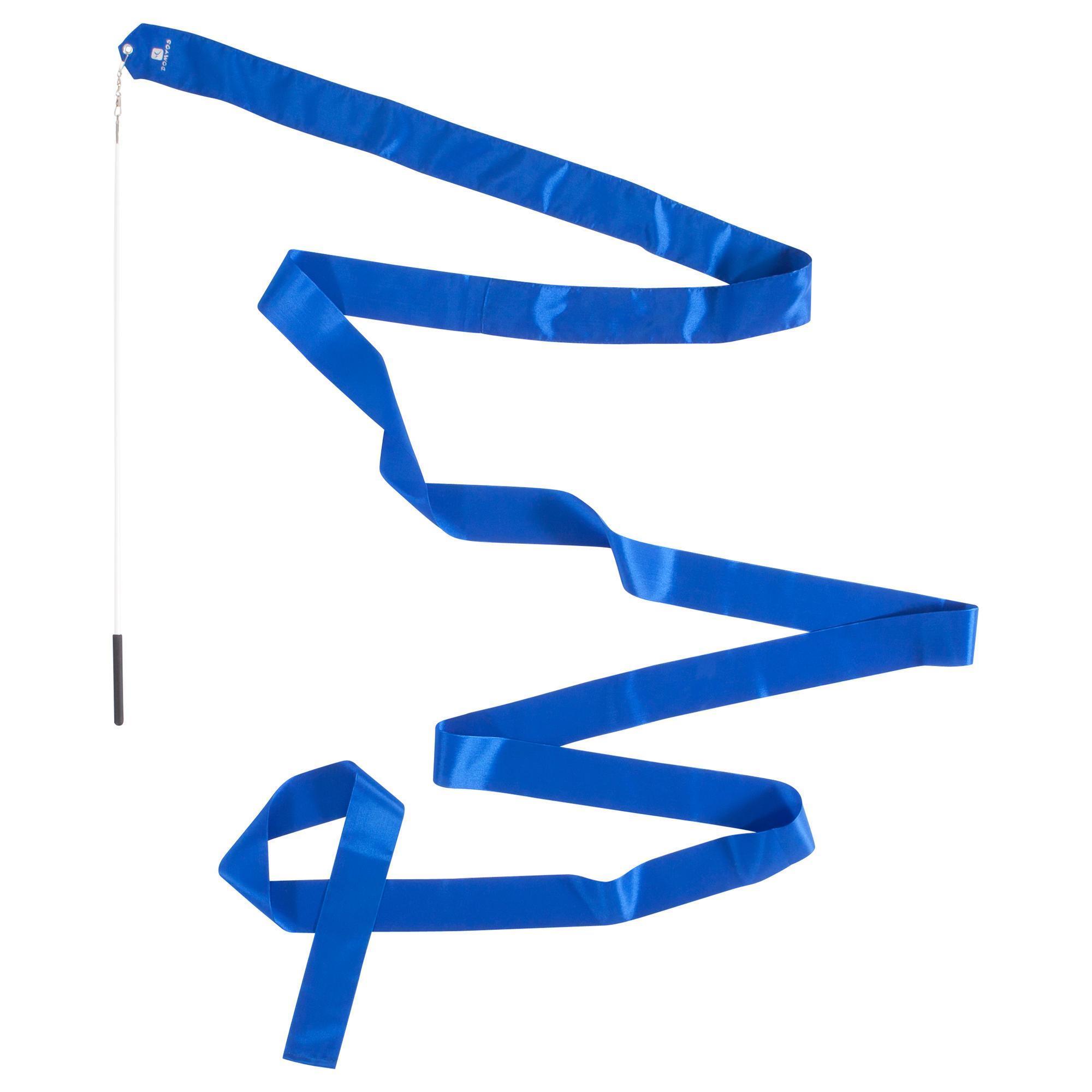 Rhythmic Gymnastics Ribbon 4 M Blue Domyos By Decathlon