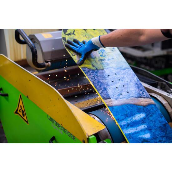 Entretien de base snowboard : ponçage, affutage, fartage