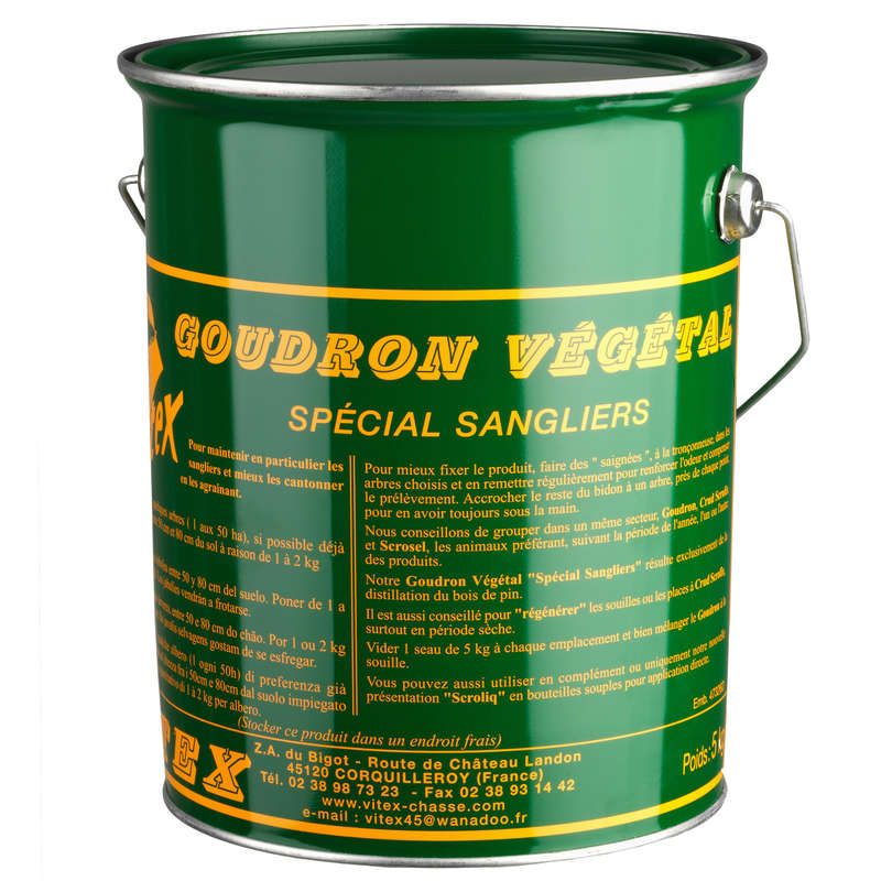 GAME MANAGEMENT Shooting and Hunting - Tar 5 KG Tin VITEX - Hunting and Shooting Accessories