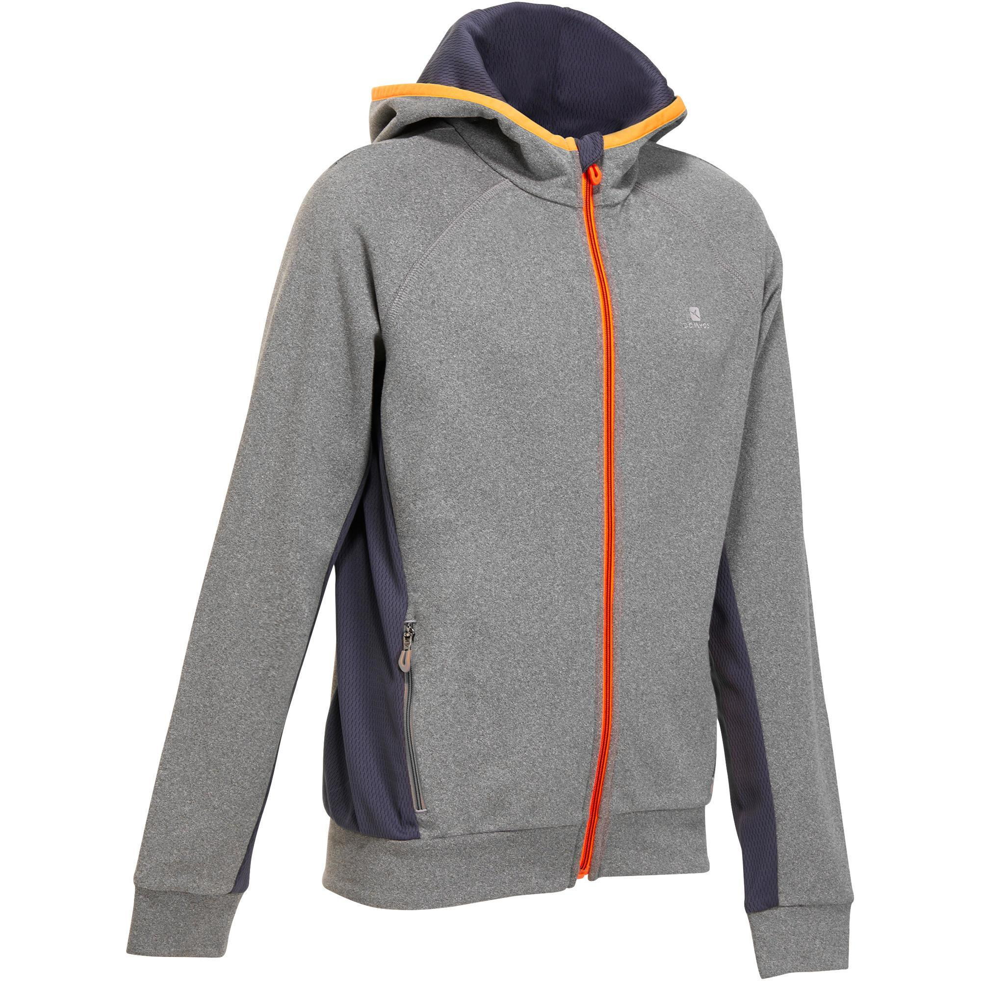 Felpa ginnastica bambino energy 980 grigio arancione - Felpa porta bebe decathlon ...