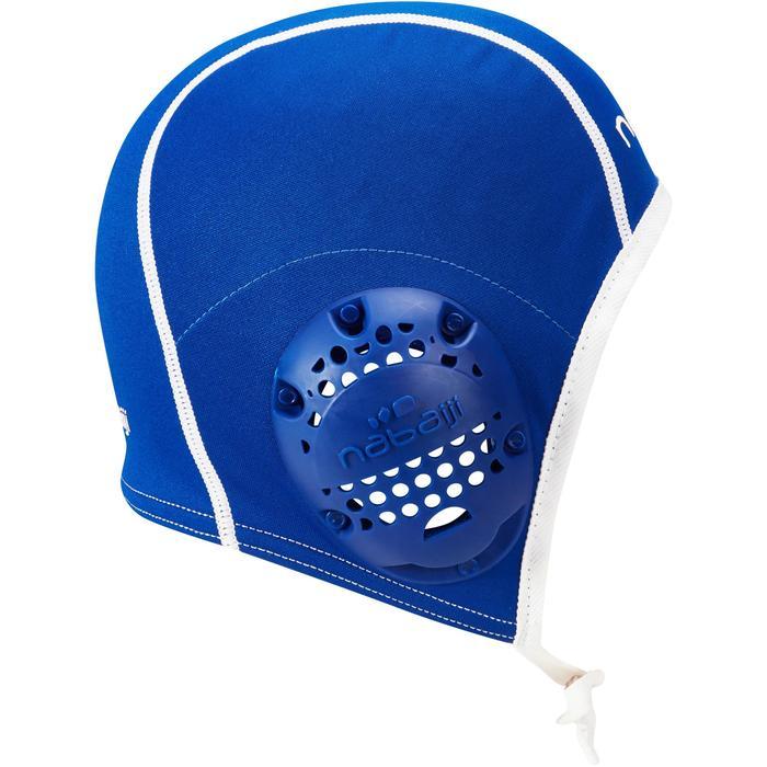 Blauwe badmuts voor waterpolotraining volwassenen