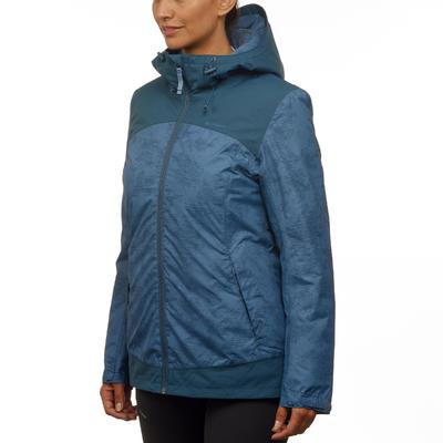 Women's Warm Waterproof Snow Hiking Jacket SH100 X-Warm - Chinablue