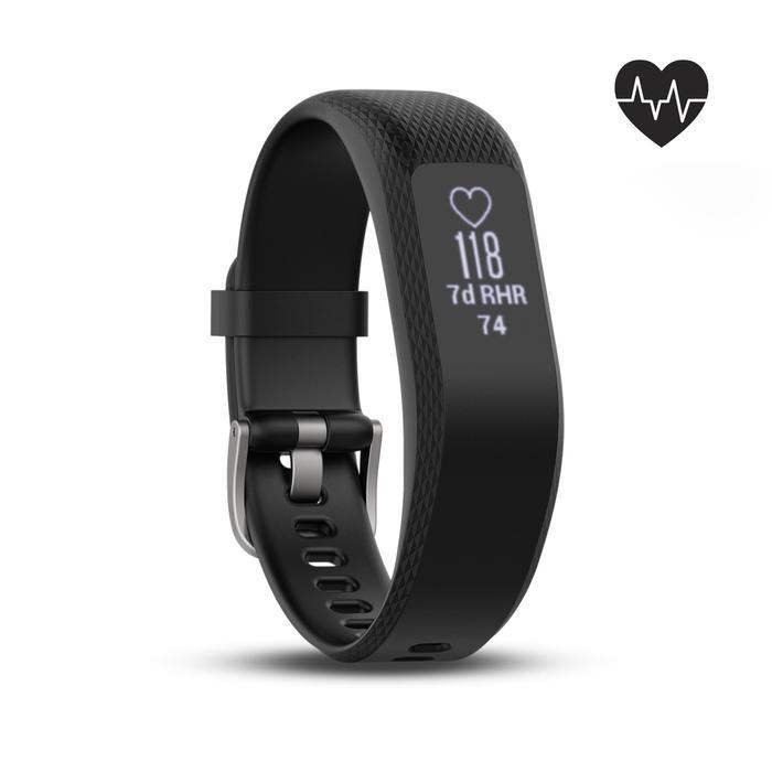 Bracelet d'activité Vivosmart 3 cardio au poignet noir (S/M) - 1235638