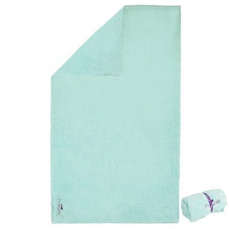 Serviette microfibre douce vert clair taille L 80 x 130 cm