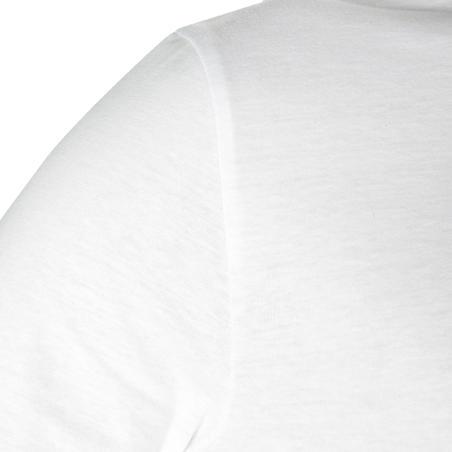 100 T-shirt Lengan Panjang Gentle Gym & Pilates - Putih