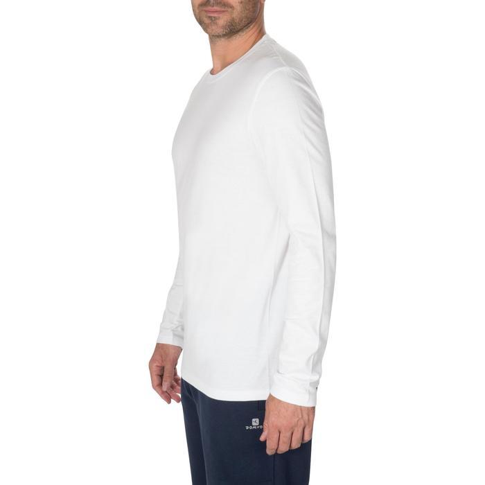 溫和健身與皮拉提斯長袖T恤100 - 白色