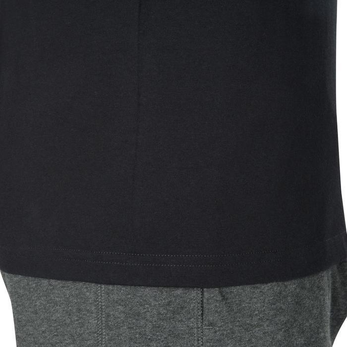溫和健身與皮拉提斯長袖T恤100 - 黑色