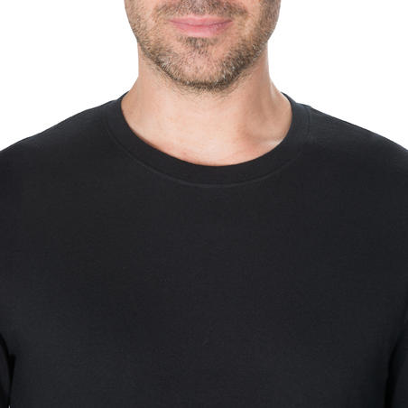 Men's Long-Sleeved T-Shirt 100 - Black