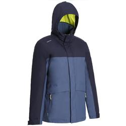100 Men's Warm Sailing Jacket - Grey/Blue