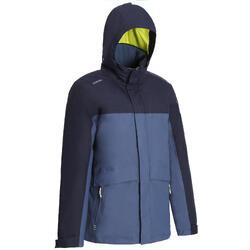100 男款航海運動外套- 灰色/藍色