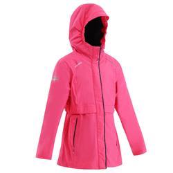 女童款航海保暖雨衣100-粉紅色