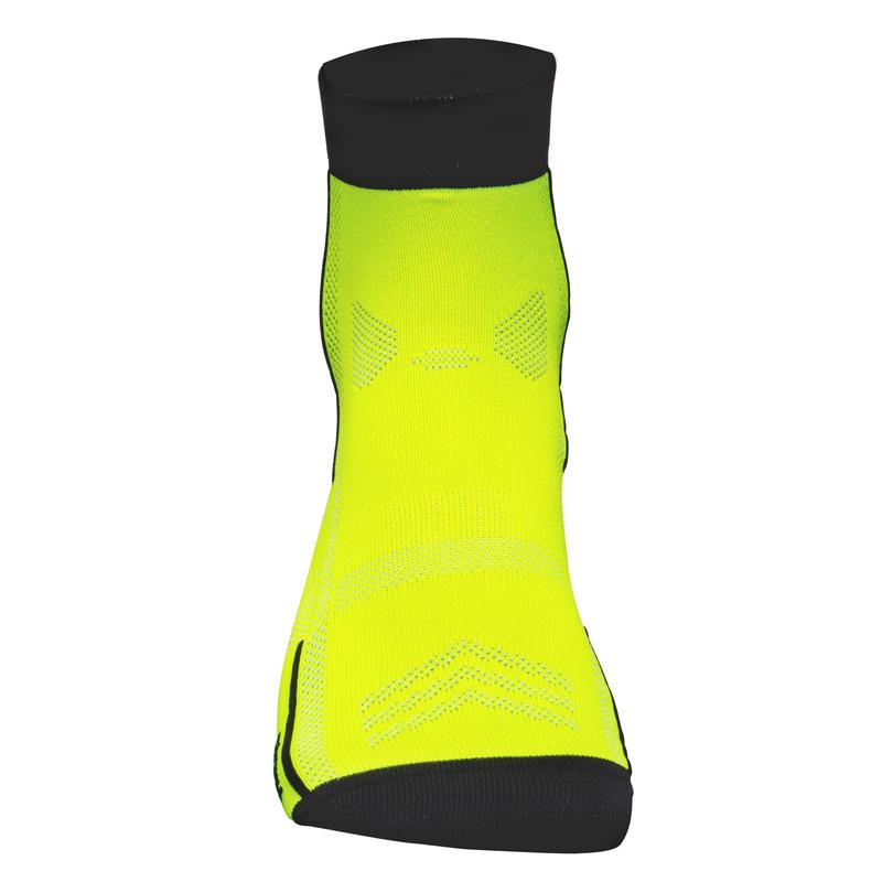 Chaussettes vélo 500 jaune fluo
