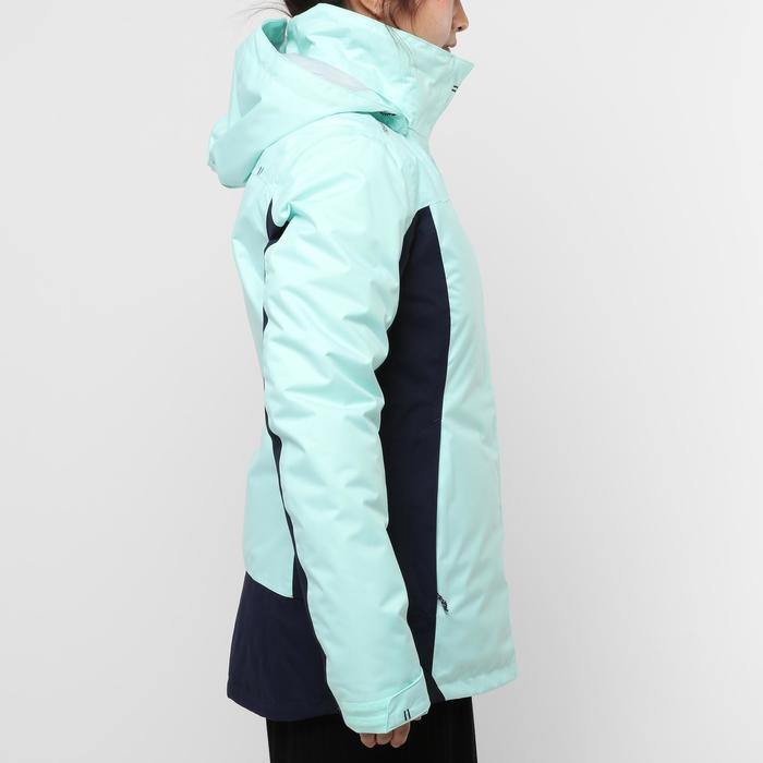 100 女士航海保暖外套-薄荷綠/海軍藍