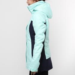 100 Women's Sailing Jacket - Mint Green / Navy Blue