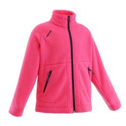兒童航行刷毛衣100-亮粉紅
