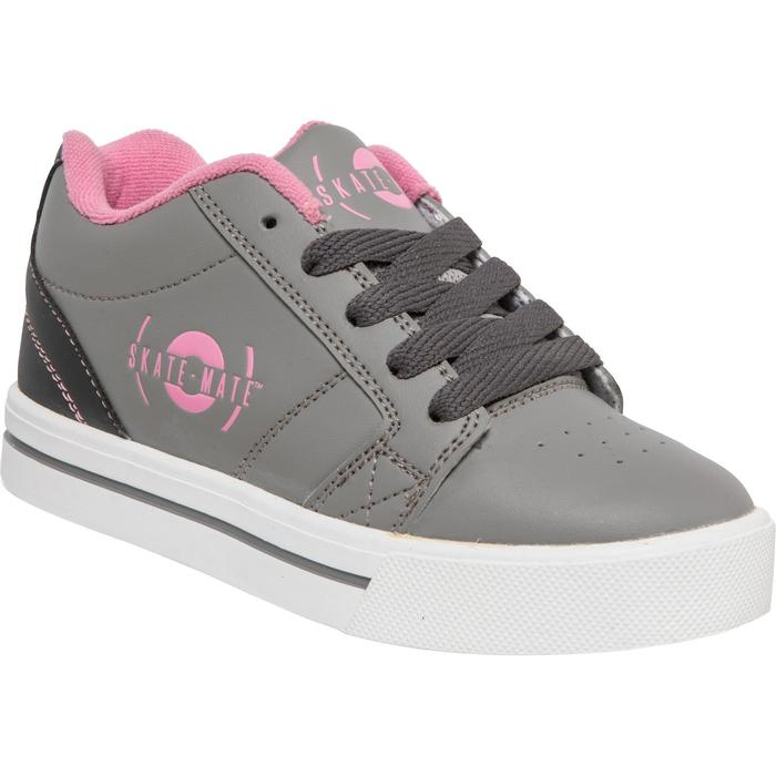 CHAUSSURES À ROULETTES SKATE-MATE GRIS ROSE - 1236268