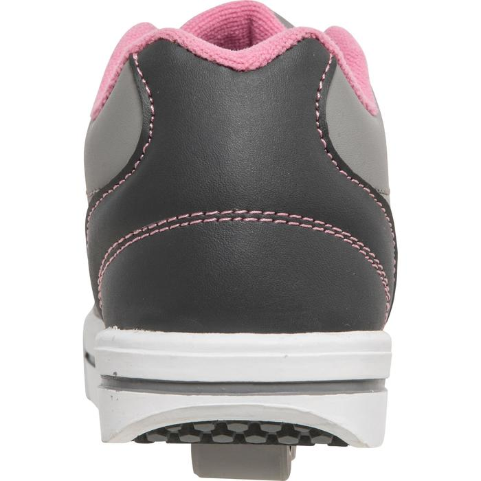 CHAUSSURES À ROULETTES SKATE-MATE GRIS ROSE