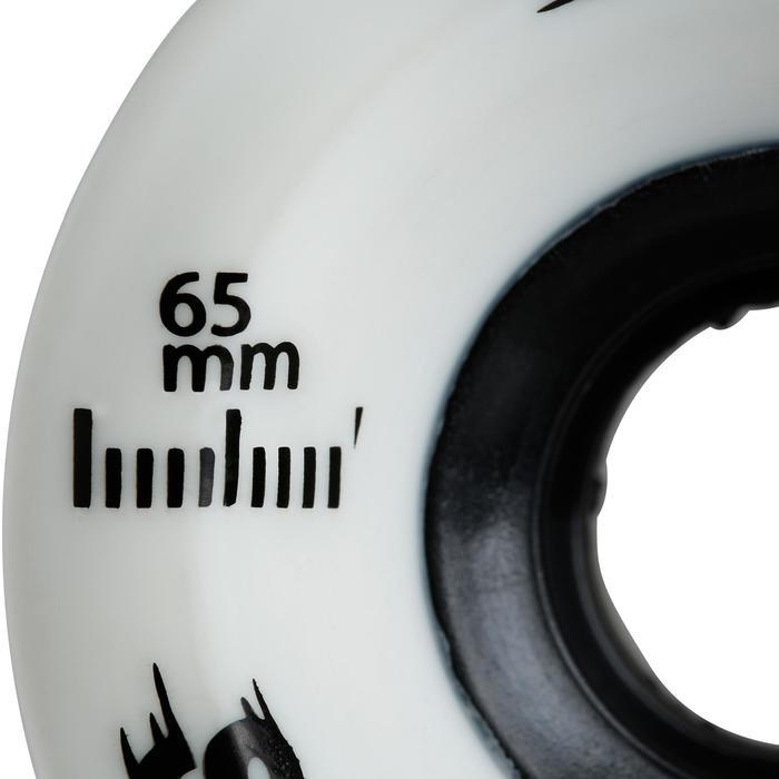 Wielen voor longboard 65 mm 80A wit