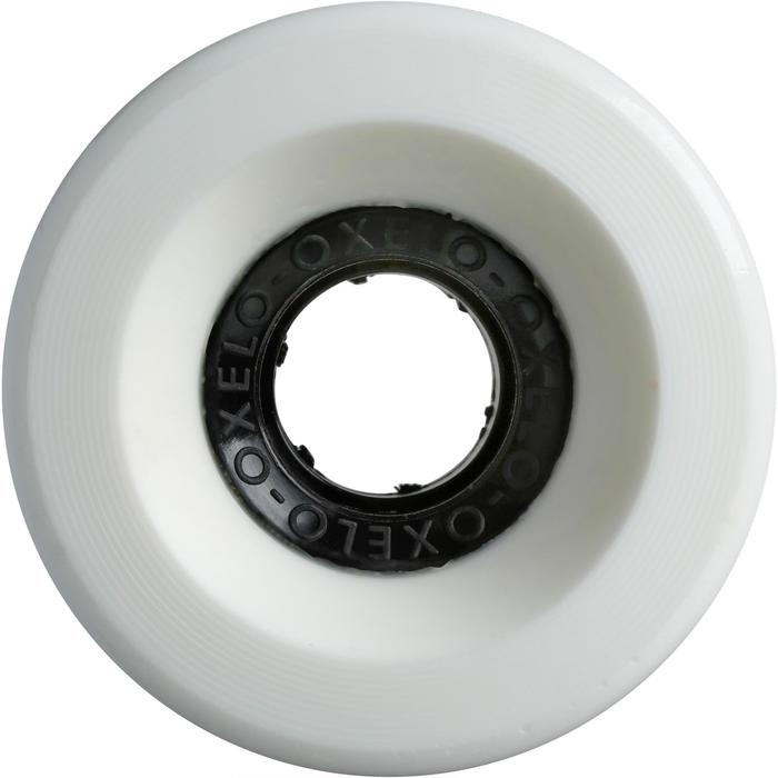 ROUES LONGBOARD 65mm 80a BLANCHE - 1236289