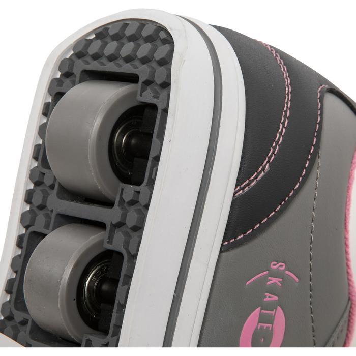 CHAUSSURES À ROULETTES SKATE-MATE GRIS ROSE - 1236290