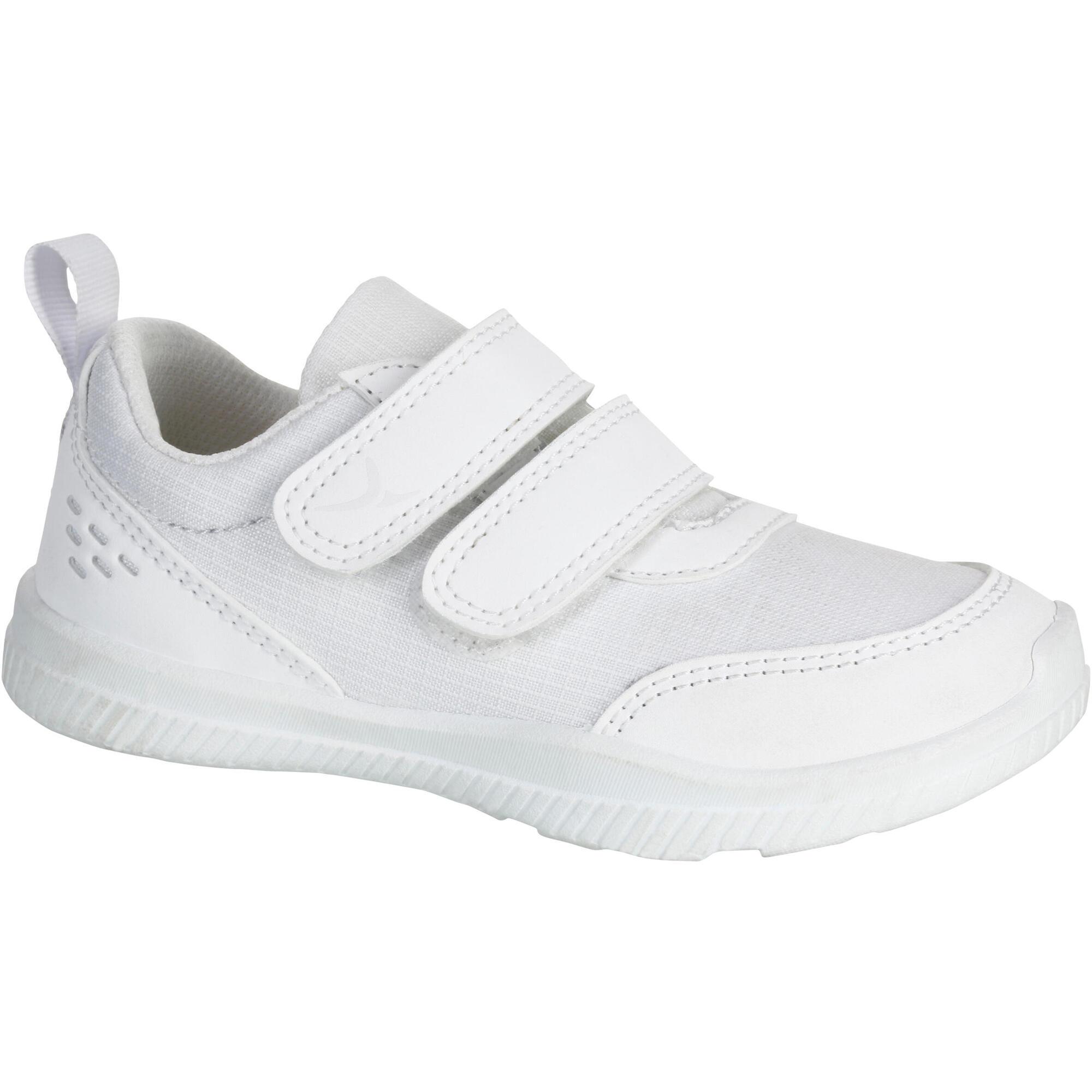 white sneakers gym