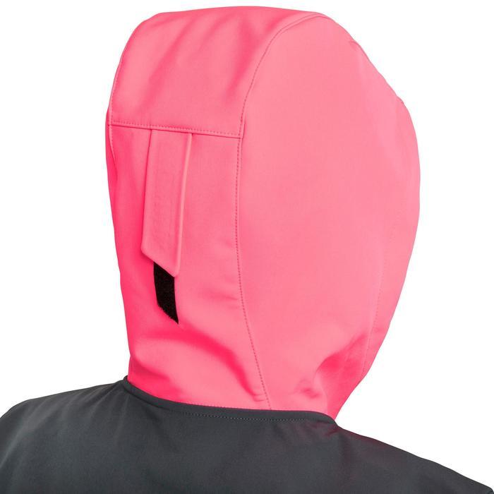 Softshell jas voor wedstrijdzeilen dames Race marineblauw/grijs/fluoroze