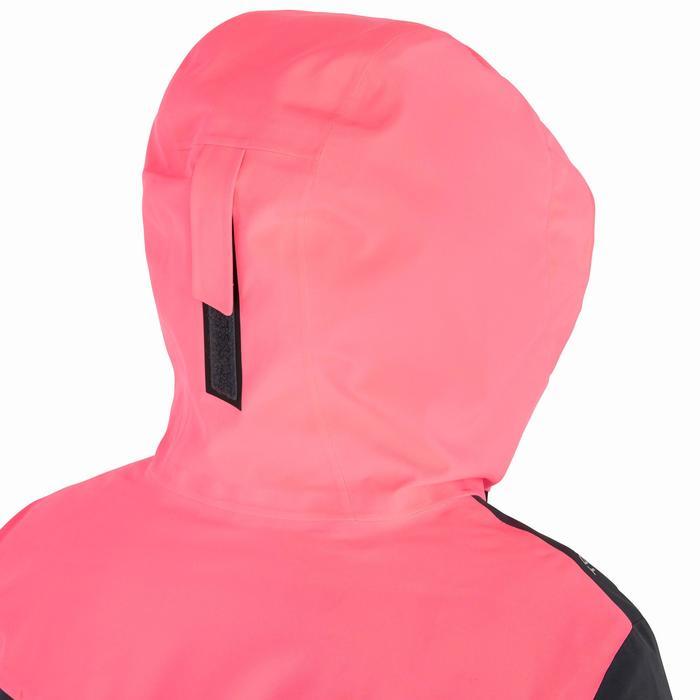 Veste parka náutica mujer 500 gris / rosa